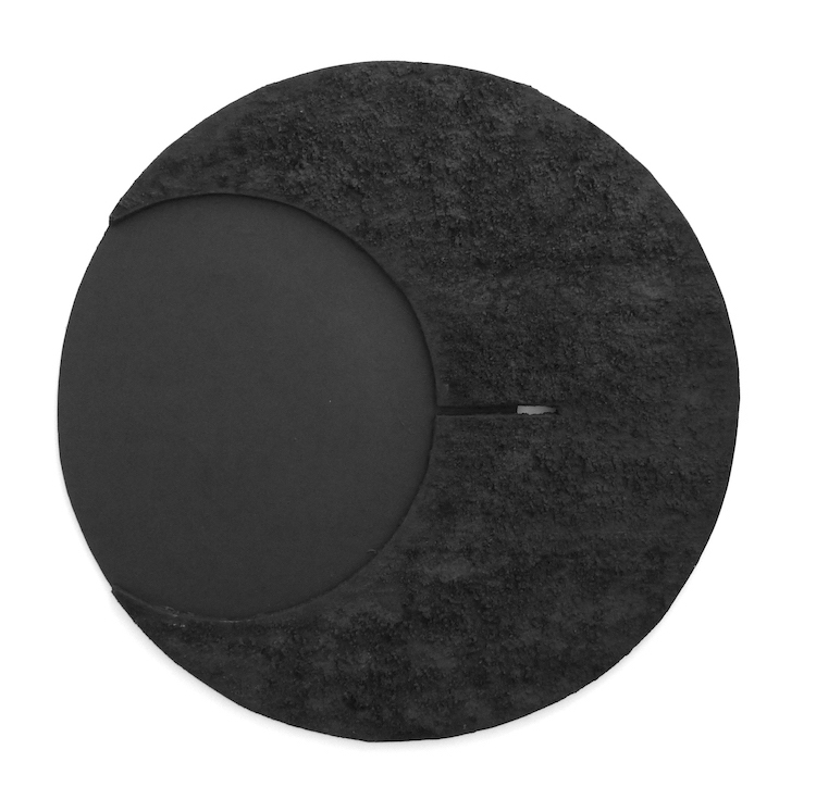 William Wright, Eclipse, 2014, 73 cm diameter, oil, mixed media on wood Square Image