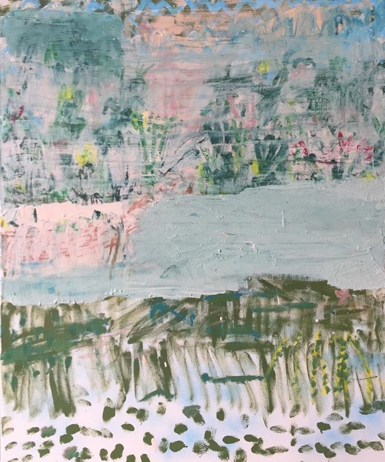Seabrook Sydney Botanical Gardens 122x102cm oil and oil stick on canvas
