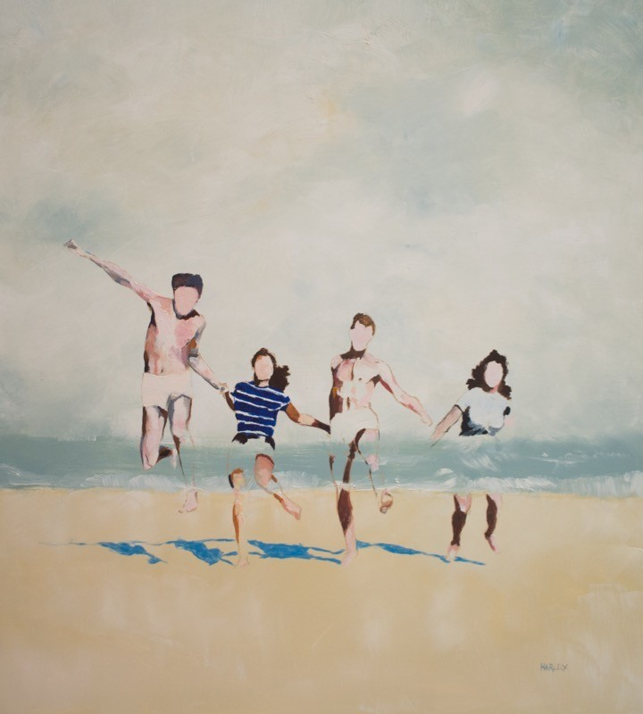 Harley Oliver, They Got Married, Oil on Linen, 90x84cm, 2016 - 3,000