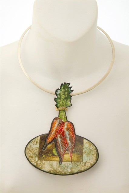 Sean Axelrod, Its a Carrot, Enamel Print and Silver, 2016, Enamel Print and Silver, 2016, 10x13cm - 2500 (stanley street gallerys conflicted copy 2016-09-09)