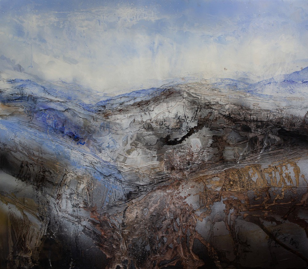Claire Primrose, Distant Nearness, 2019, Acrylic and oil on canvas, 140x150cm