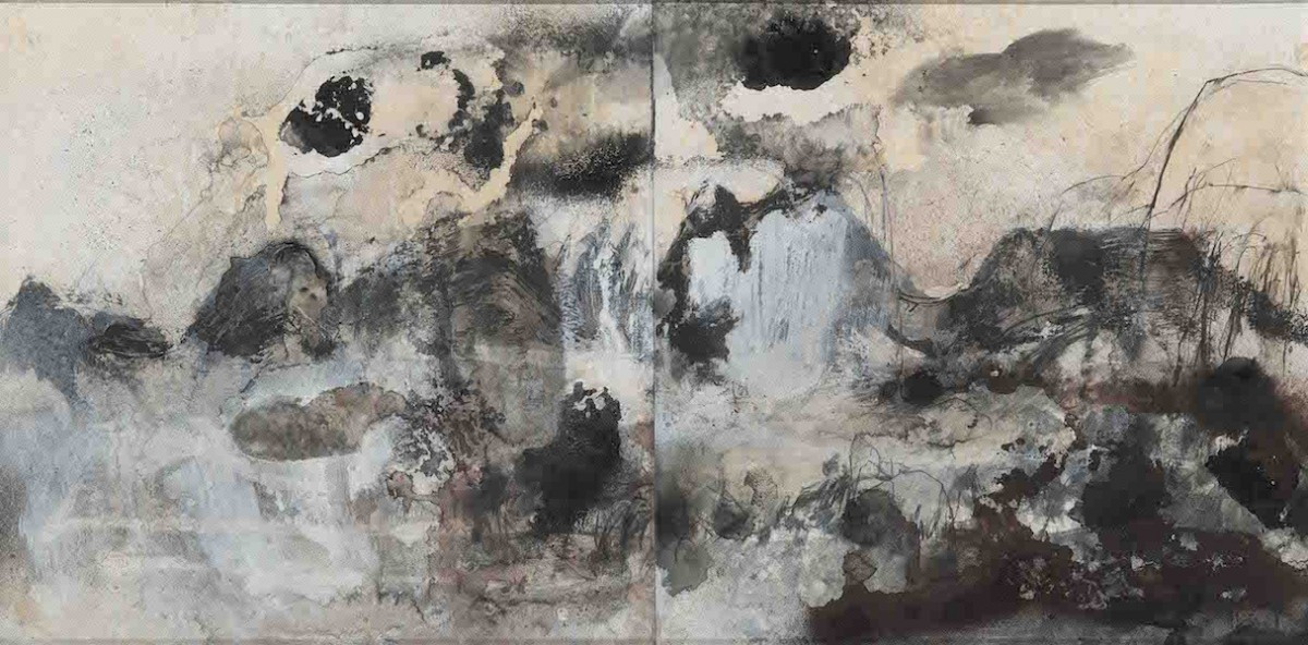 Claire Primrose -The Marks You Made - Mixed media Diptych on board 49x78cm 950 web