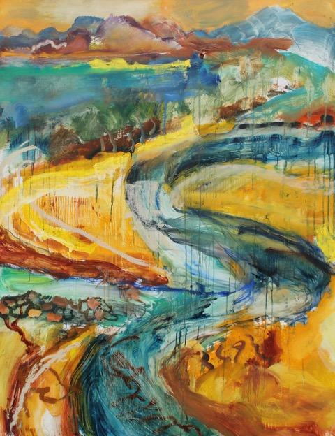 DenisClarke Estuary2020 Oil on Linen 122x94cm