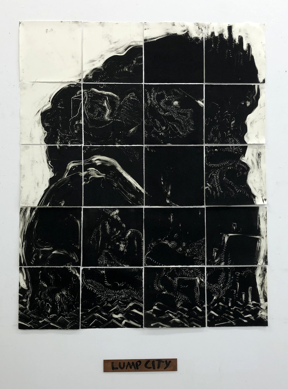 Claire Welch, Lump City, 2020, Monoprint on Hahnemuhle, Edition of 1 copy