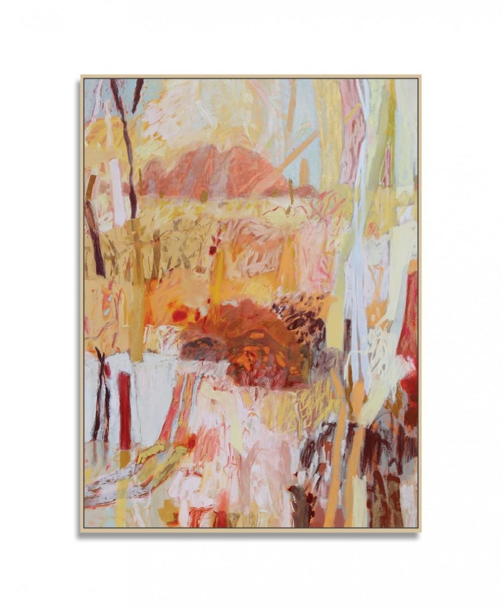 Pamela Honeyfield, Past Daybreak, 2021, Oil on Canvas, 124 x 93 x 6cm, Pamela Honeyfield with frame