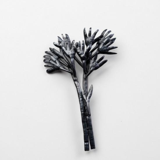 Flora Palm Fern brooch