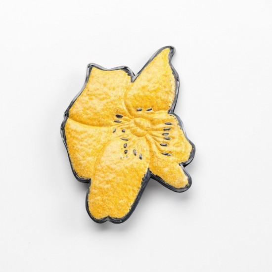 Kapok flower brooch