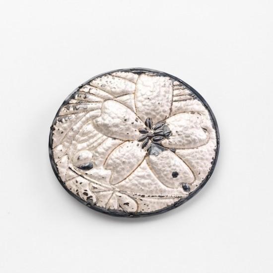 Kapok flower oval brooch