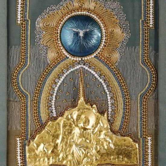 Antonia Miller (central dome enameled by Barbara Ryman) - As Above so Below, a Night Pilgrimage at Mont St Michel