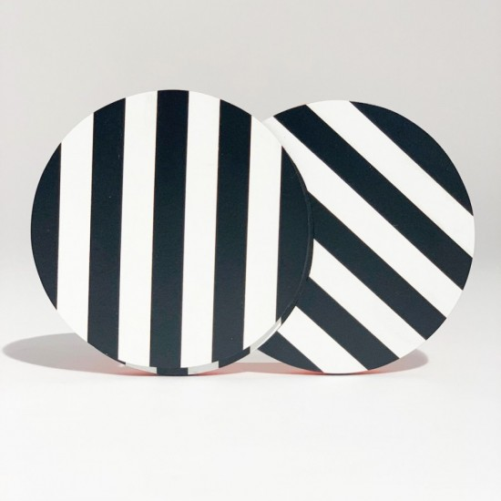 Striped Brooches Black