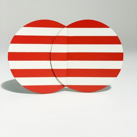 Striped Brooches Red