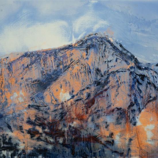Some Mountain Near Salzburg 2 - Study