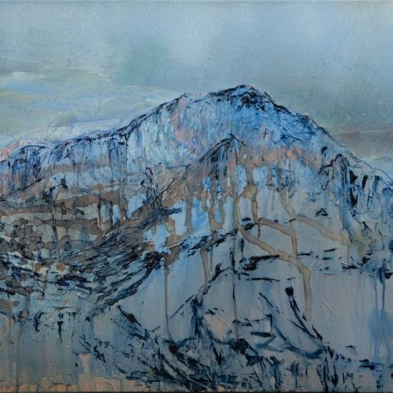 Some Mountain Near Salzburg 1 - Study