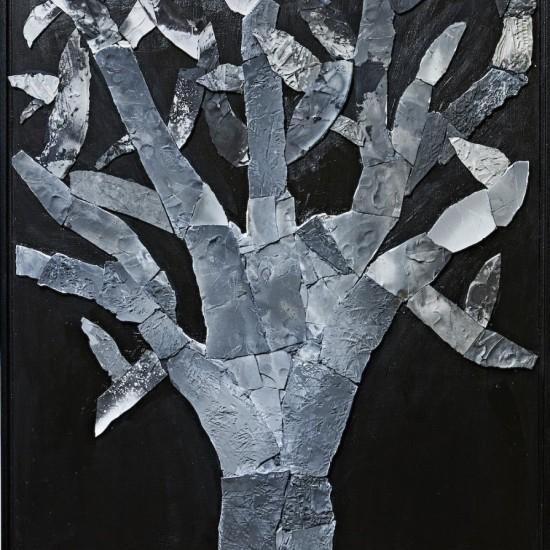 Elisa Bartels - Black fired vase with plant imprints