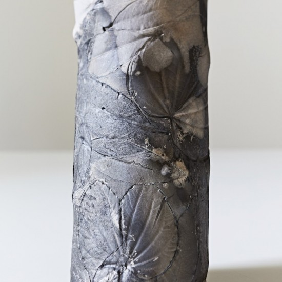 Elisa Bartels - Black fired vase with plant imprints
