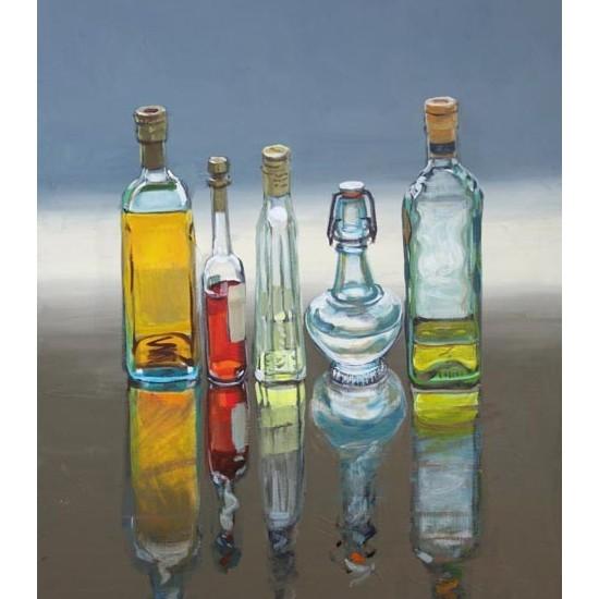 Christine Webb - 5 Bottles, Extra Virgin on the Right