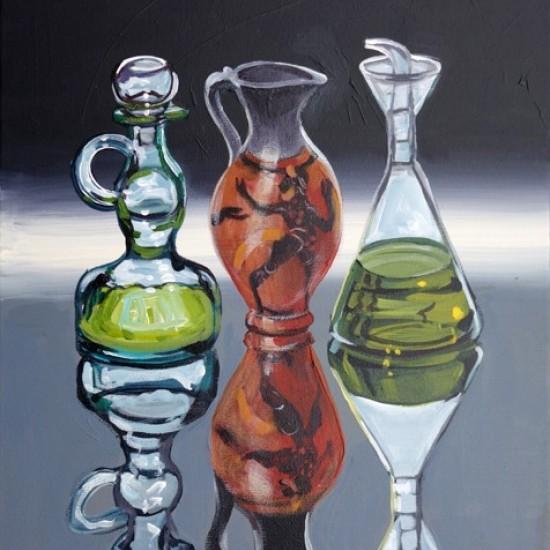Christine Webb - Sicilian Jug with Two Bottles