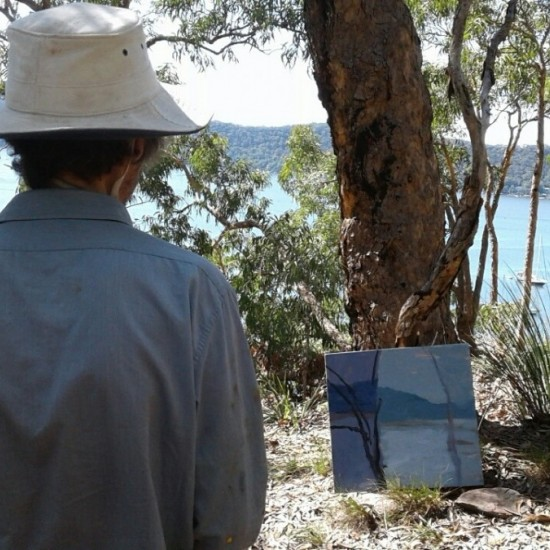 David Collins painting in Dangar Island