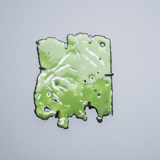 Car wreck brooch - celadon