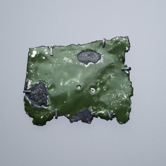 Car wreck brooch - dark green