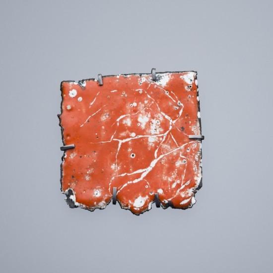 Car wreck brooch - orange (large)