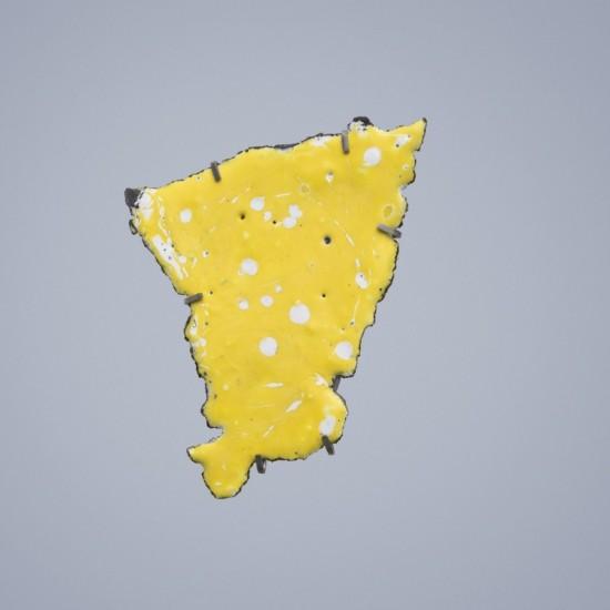 Car Wreck brooch - yellow, matte finish