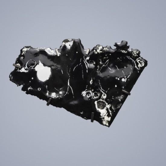 Car Wreck brooch - black