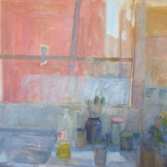 Red Over Jars and Brushes