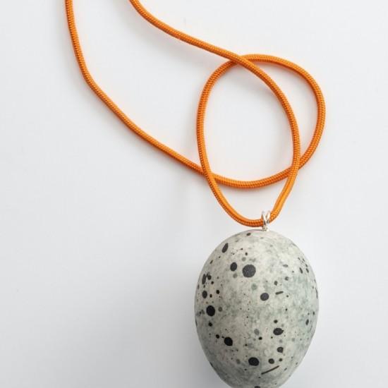 Lyrebird egg grey