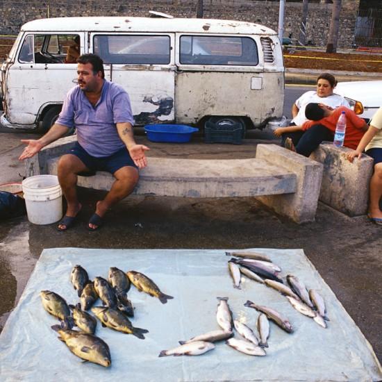 Man selling fish on the Corniche