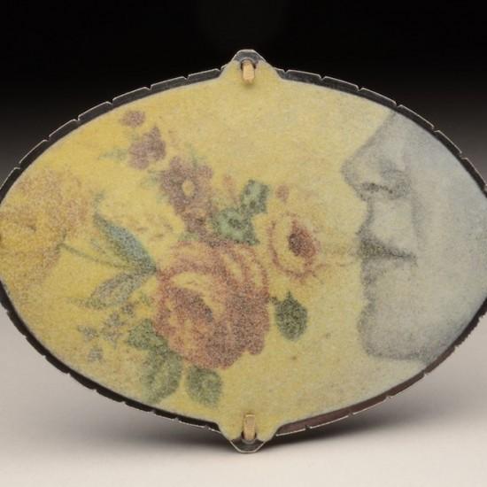 Plume Bloom (brooch pendant)