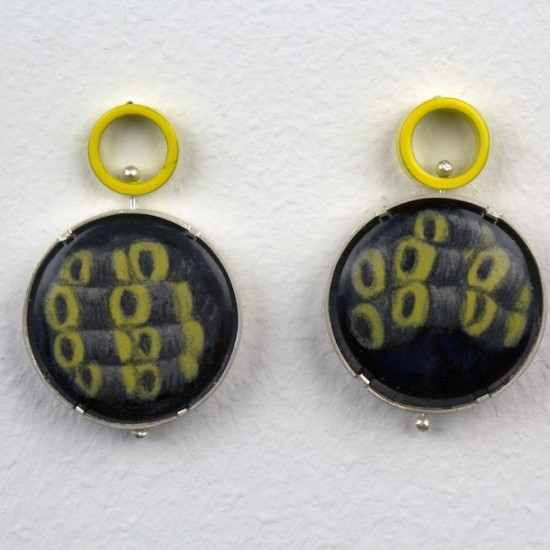 Yellow Swivel Earrings