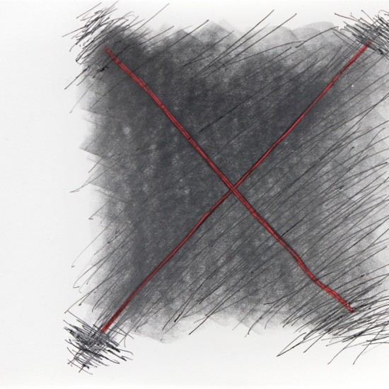 Untitled (Drawing excerpted from MJ Book - 38 Drawings, Book of 25 Pre 1983)