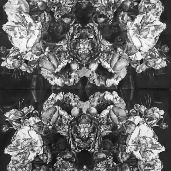 Poppies - Stillness in movement (diptych)