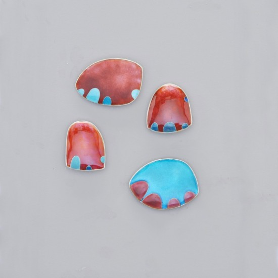 Angry Sea Anemone Brooches