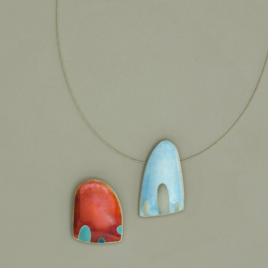 Angry Ocean and Angry Sea Anemone (Brooch and Pendant)